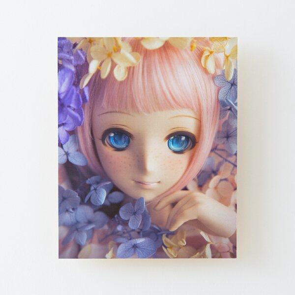 Hydrangeas · Melocotón Wood Mounted Print