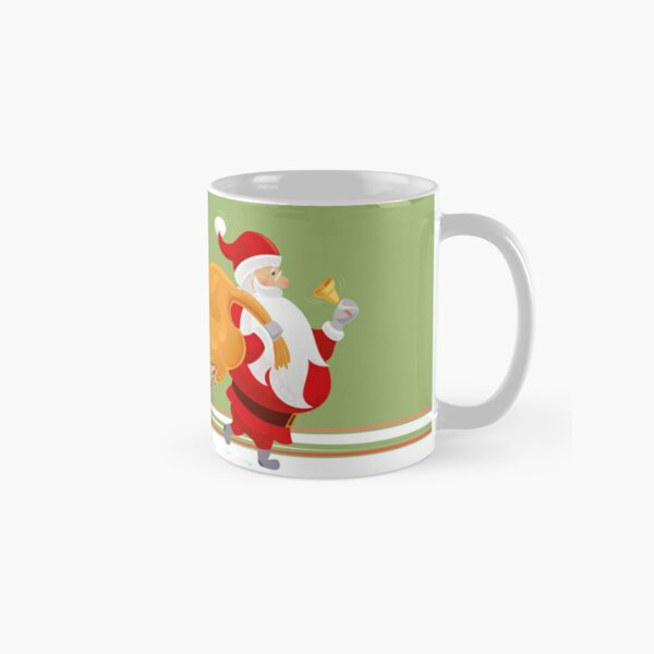 Santa and small red birds Classic Mug