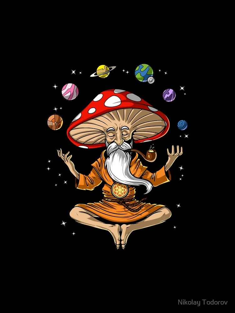 Magic Mushroom Buddha by underheaven