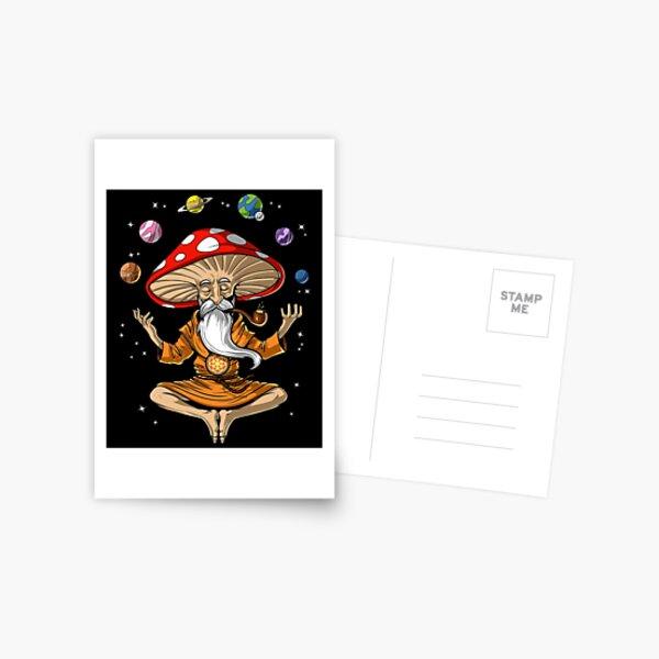 Magic Mushroom Buddha Postcard