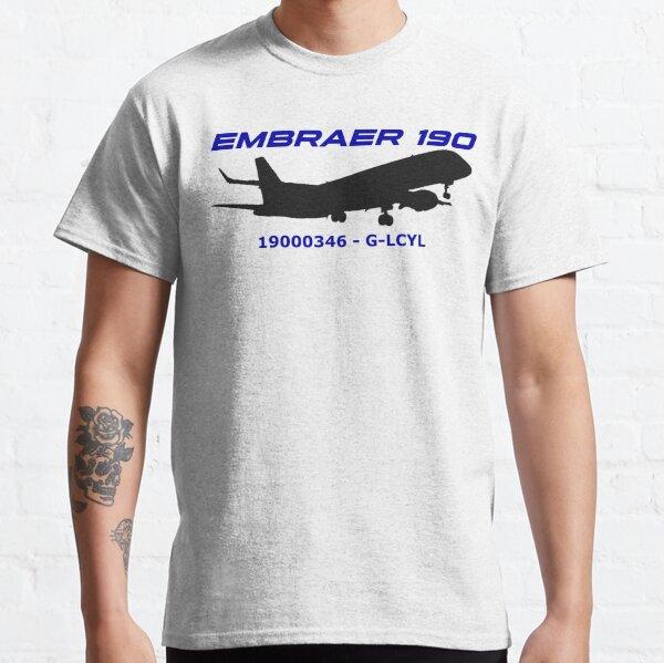 Embraer 190 19000346 G-LCYL (Black Print) Classic T-Shirt