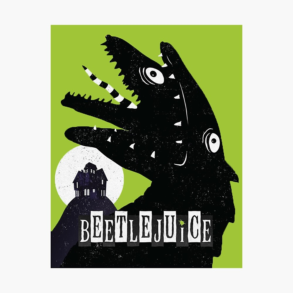 Beetlejuice Musical Sandy Logo Poster By Amscraypunk Redbubble