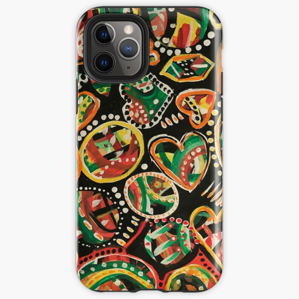 Whimsical hearts iPhone Case & Cover