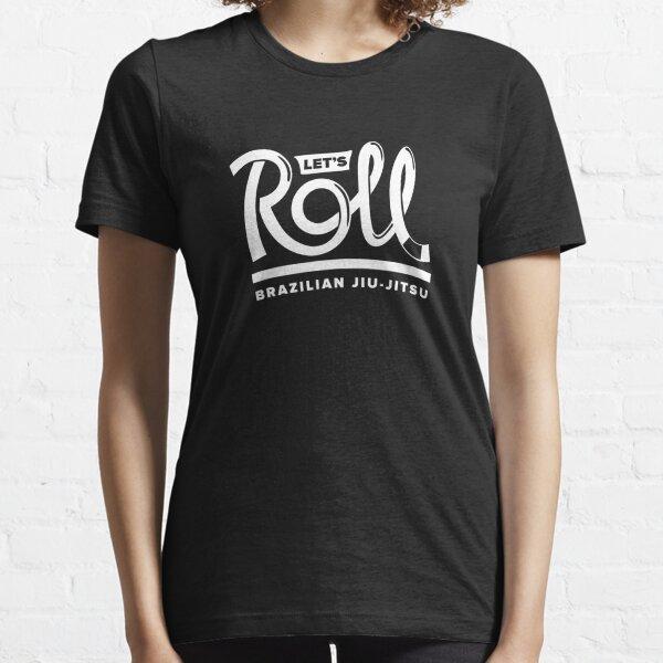 Let's Roll Brazilian Jiu-Jitsu White Belt Essential T-Shirt