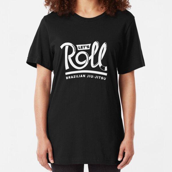 Let's Roll Brazilian Jiu-Jitsu White Belt Slim Fit T-Shirt