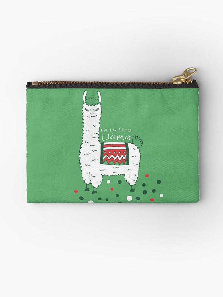 Holiday Llama  Zip Bag Pouch