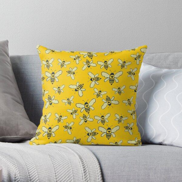 Honey Makers Throw Pillow