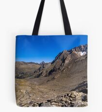 Looking down from the Sulzenauferner Tote Bag