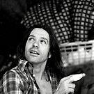 1982 - allmendfest: the commitee member, injured by Ursa Vogel
