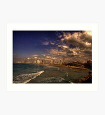 Tel Aviv Promenade Art Print
