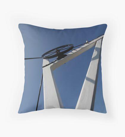 19th Centry Crane - Newbury Warf Throw Pillow