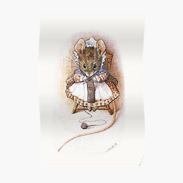 Souris à tricoter - Beatrix Potter Poster