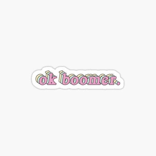 retro ok boomer Sticker