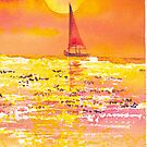 Sunset Sailboat by CCallahan