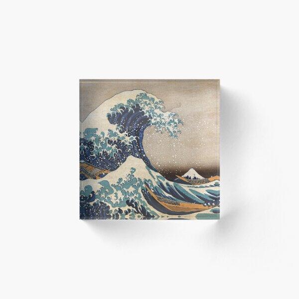 The Great Wave off Kanagawa Acrylic Block