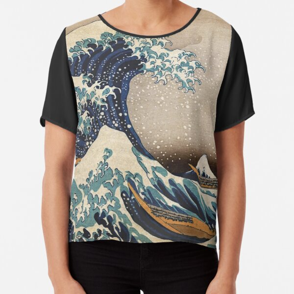 The Great Wave off Kanagawa Chiffon Top