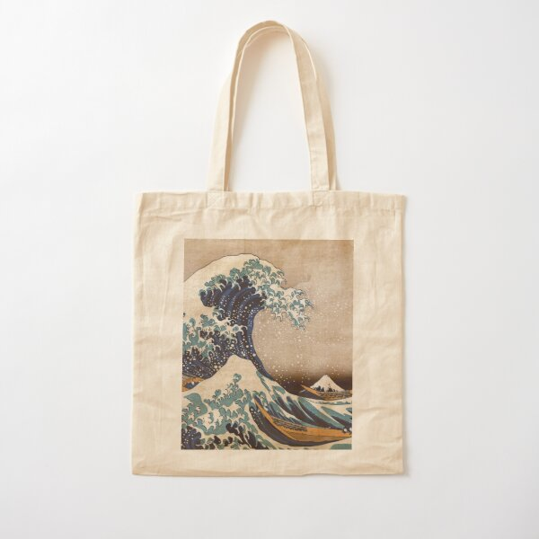 The Great Wave off Kanagawa Cotton Tote Bag