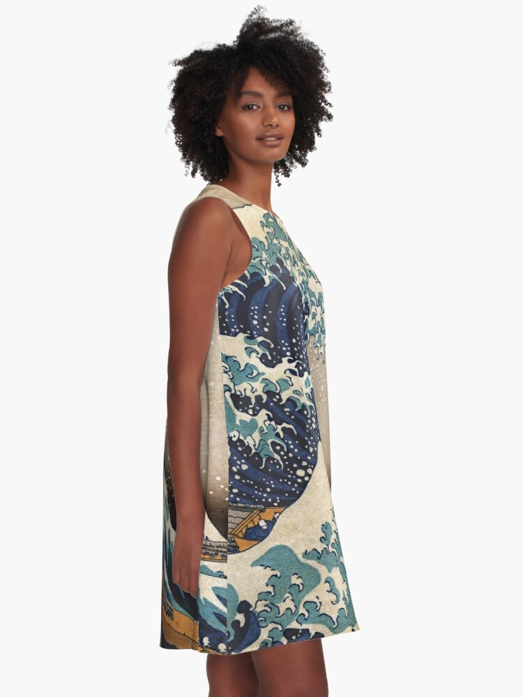 Alternate view of The Great Wave off Kanagawa A-Line Dress