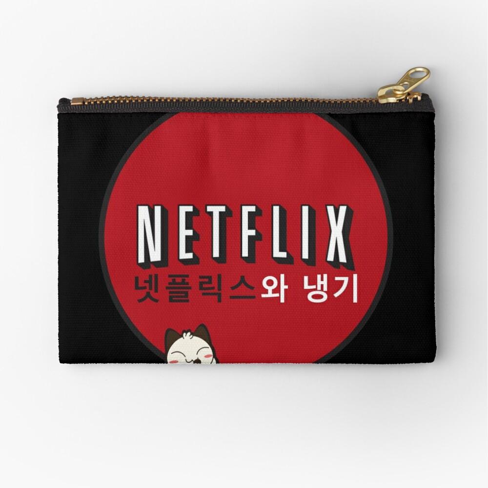 Netflix and Chill South Korea Zipper Pouch