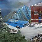 Cuda Checks his Mountain Cabin by towncrier