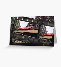 Bar Brasserie....a Parisian secret Greeting Card