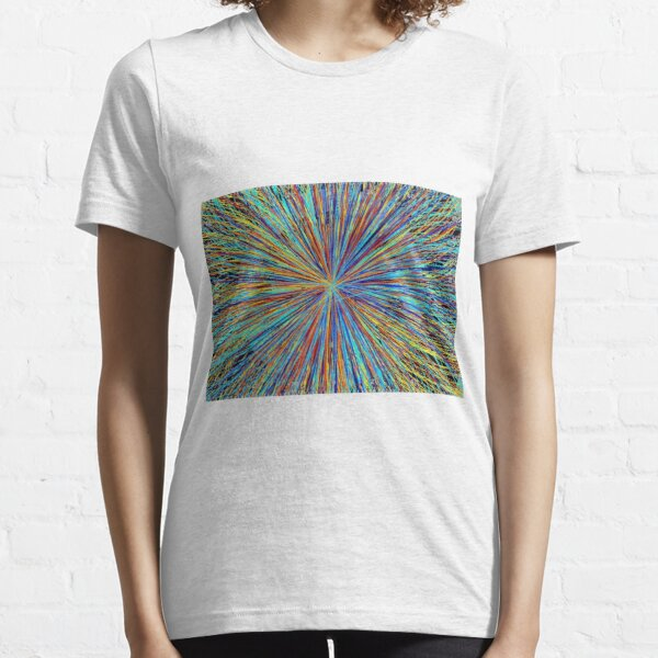 Particle Collision in the LHC at Cern Logo Essential T-Shirt