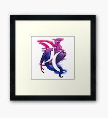 Bi Pride Dragon Framed Print