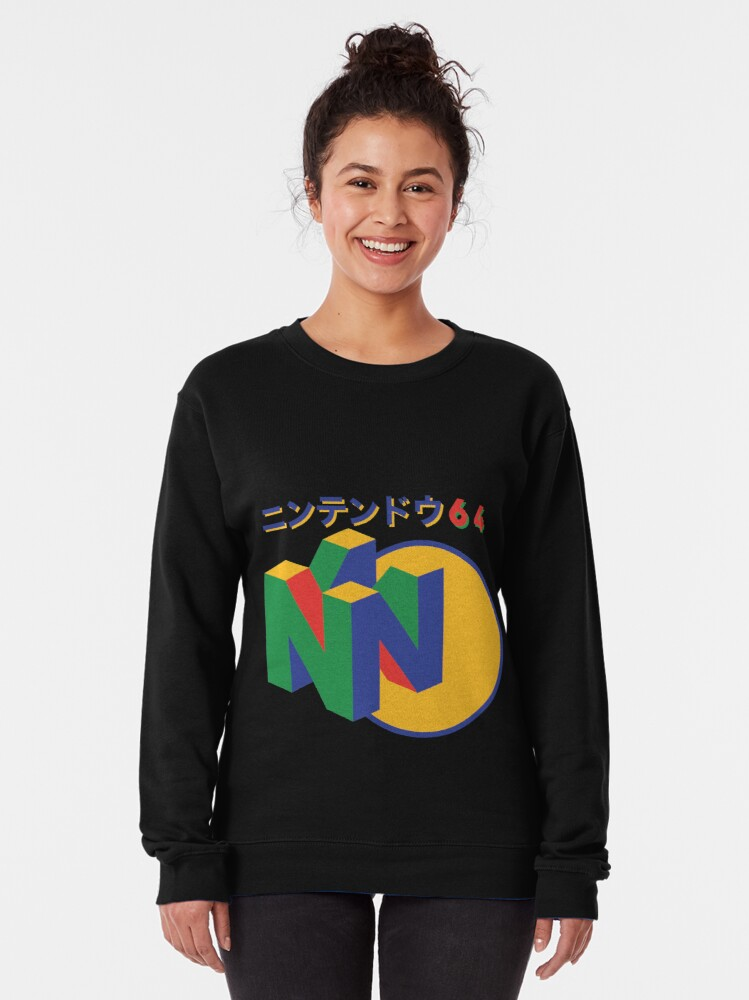 Alternate view of Nintendo 64 Japanese version Pullover Sweatshirt