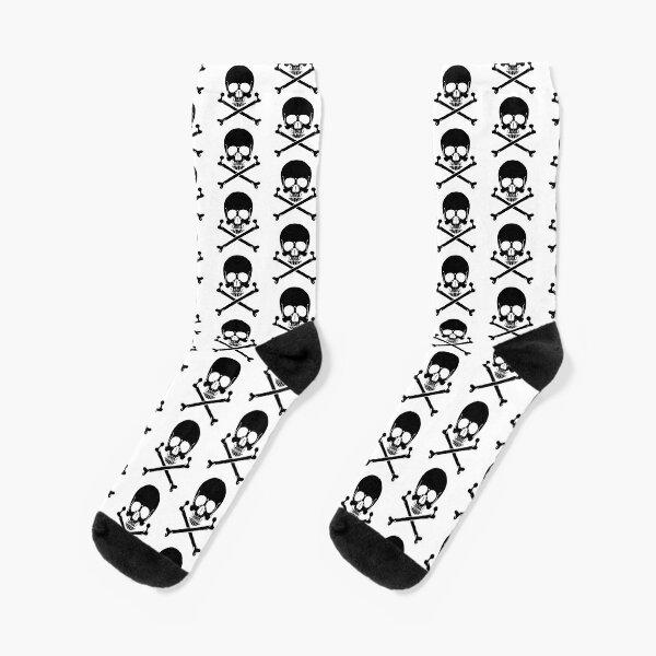Black Skull and crossbones Socks