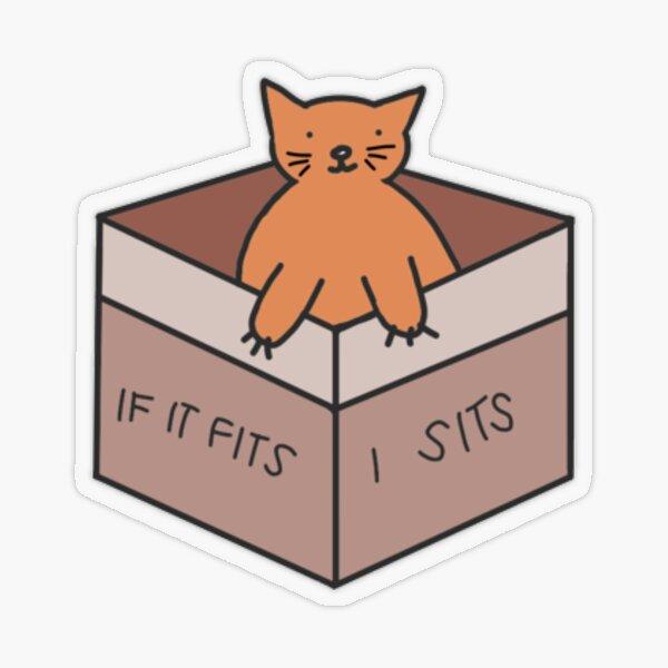 If it fits, I sits Transparent Sticker