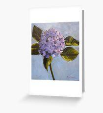 Blue hydrangea. Acrylic Elizabeth Moore Golding 2009 Greeting Card