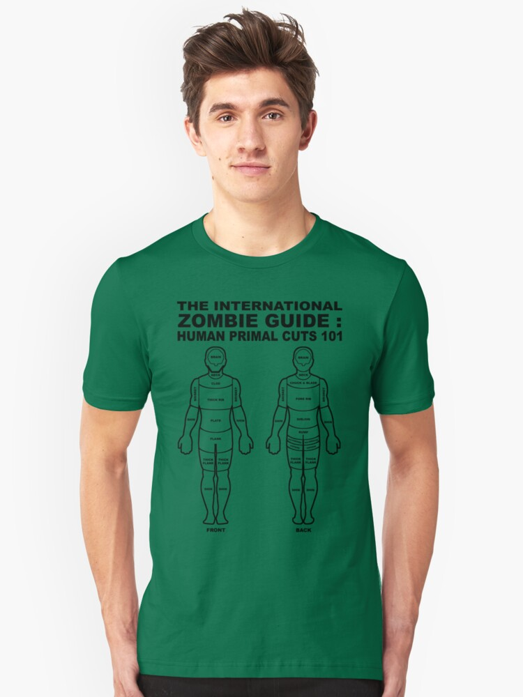 The International Zombie Guide: Human Primal Cuts 101 Unisex T-Shirt Front