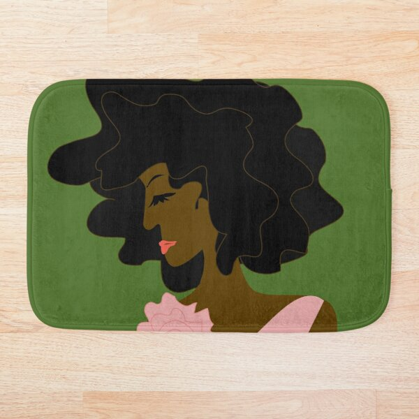 The Lady in Pink Bath Mat