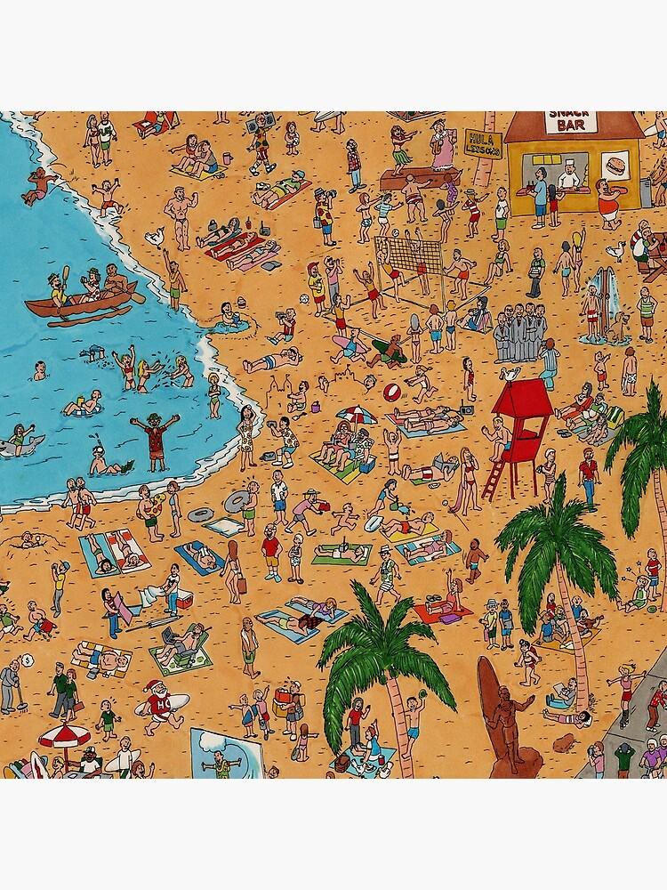 Where's Kimo? On Waikiki Beach! by DancingPencil