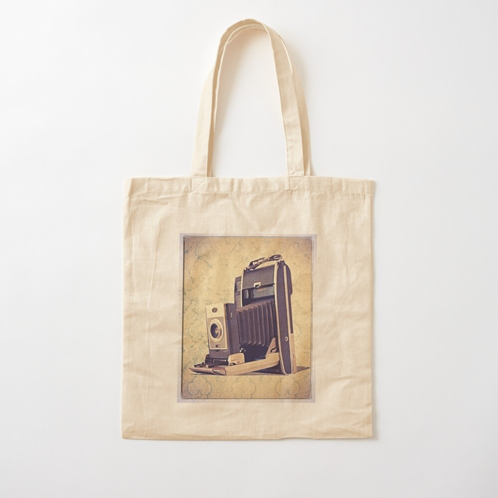 Polaroid Camera with Bellows - Vintage Color Cotton Tote Bag