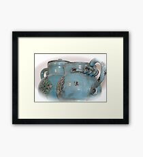 dated in blue Framed Print