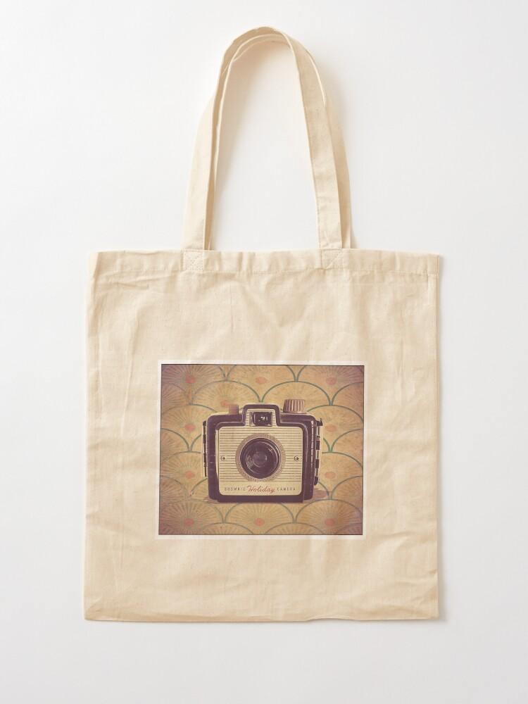 Alternate view of Brownie Holiday Camera - Vintage Color Tote Bag