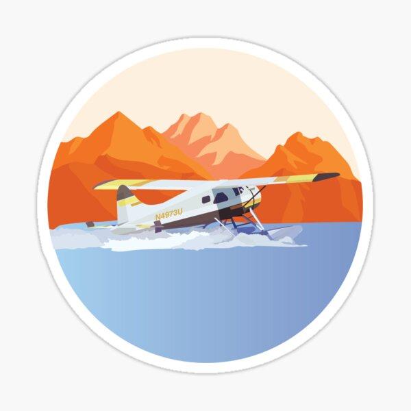 Coucher de soleil de l'Alaska Sticker
