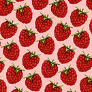 Raspberry Pattern - Pink by Kelly  Gilleran