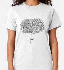 Stream of Consciousness - Black and White Classic T-Shirt