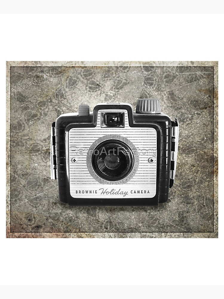 Brownie Holiday Camera - Vintage Black and White by RetroArtFactory