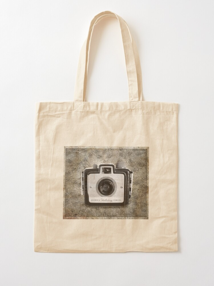 Alternate view of Brownie Holiday Camera - Vintage Black and White Tote Bag