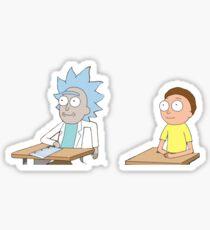 Tiny Rick and Morty Sticker