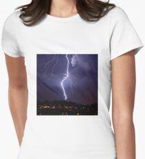 Lightning & Cloud Women's Fitted T-Shirt