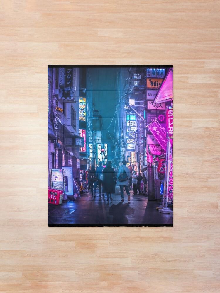 Alternate view of Tokyo Neo Future Cyberpunk Comforter
