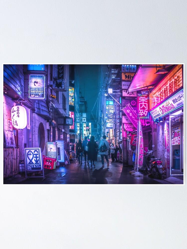 Alternate view of Tokyo Neo Future Cyberpunk Poster
