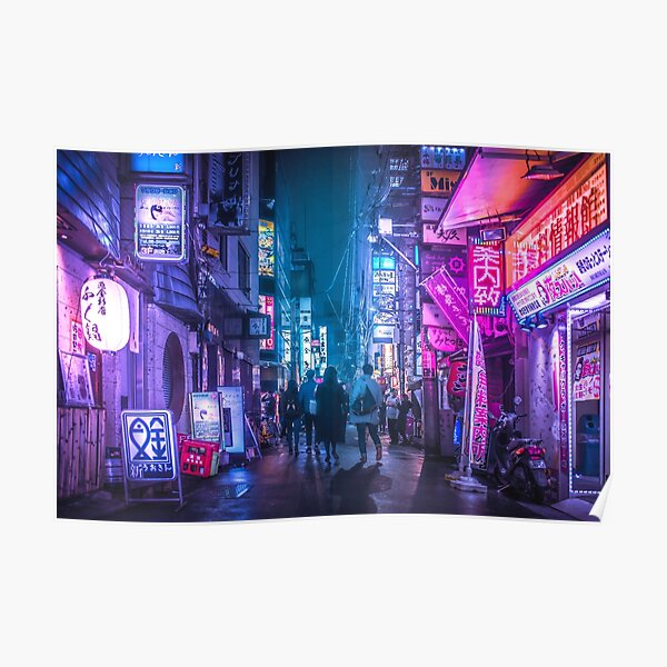 Tokyo Neo Future Cyberpunk Poster
