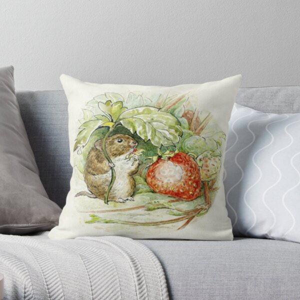 Timmy Willie Mouse - Beatrix Potter Throw Pillow