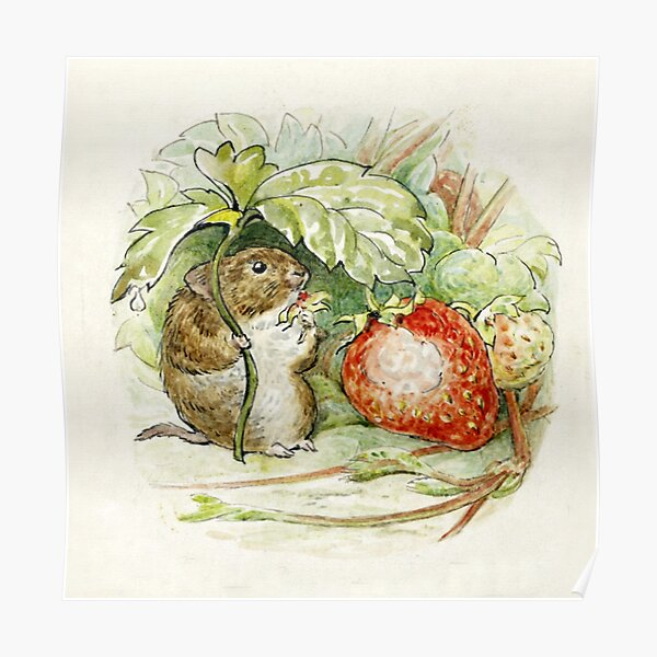 Timmy Willie Mouse - Beatrix Potter Poster