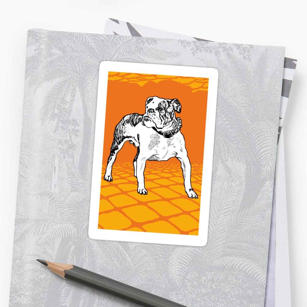 Bulldog 20s vintage Sticker